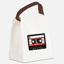 Cassette Black Canvas Lunch Bag