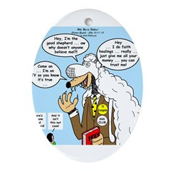 Wolf in Sheep's Clothing Ornament (Oval)