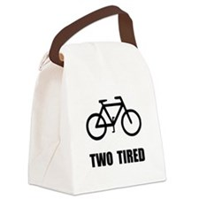 Two Tired Bike Canvas Lunch Bag