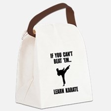 Learn Karate Canvas Lunch Bag