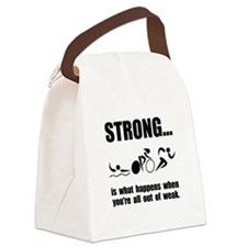 Triathlon Strong Canvas Lunch Bag