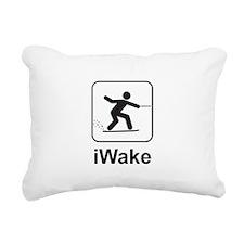 iWake Rectangular Canvas Pillow