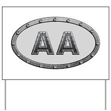 AA Metal Yard Sign