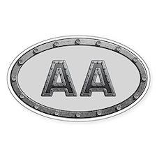 AA Metal Decal