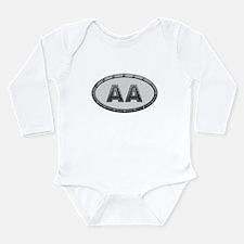 AA Metal Long Sleeve Infant Bodysuit