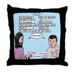 Who's the Messiah Throw Pillow