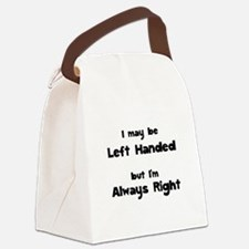 Left Handed Canvas Lunch Bag