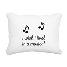 Live In Musical Rectangular Canvas Pillow