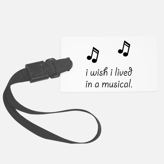 Live In Musical Luggage Tag