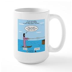 Jesus Waterskiing Large Mug
