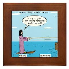 Jesus Waterskiing Framed Tile