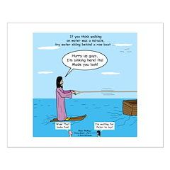 Jesus Waterskiing Posters