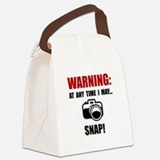Camera Snap Canvas Lunch Bag