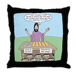 Feeding the 5,000 Throw Pillow