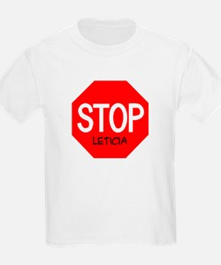 Stop Leticia Kids T-Shirt