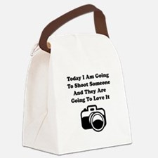 Shoot Someone Camera Canvas Lunch Bag