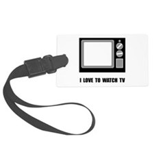 Love To Watch TV Luggage Tag