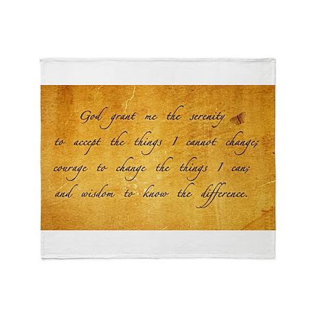 serenity prayer gold vintage Throw Blanket