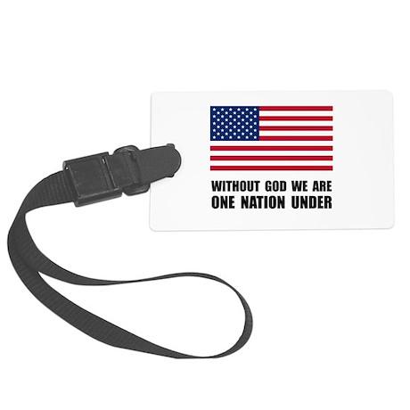 One Nation Under God Large Luggage Tag