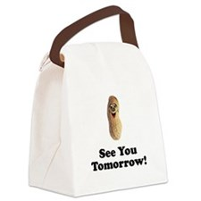 See You Tomorrow Peanut Canvas Lunch Bag