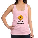 Sasquatch Sign Racerback Tank Top