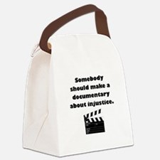 Documentary Injustice Canvas Lunch Bag