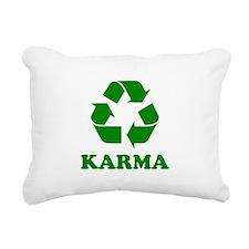 Karma Recycle Rectangular Canvas Pillow