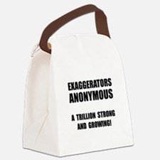 Exaggerators Anonymous Black Canvas Lunch Bag