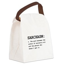 Sarchasm Definition Black.png Canvas Lunch Bag