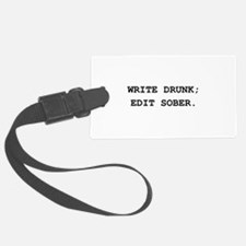 Edit Sober Black.png Luggage Tag