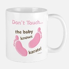 Karate Baby Green Mug