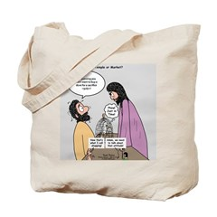 Temple or Market? Tote Bag