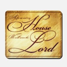 As for me and my house Vintage Mousepad