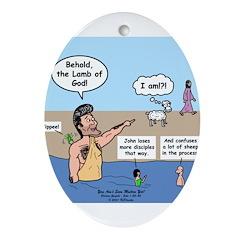 Lamb of God Ornament (Oval)