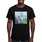 Lamb Clarification Men's Fitted T-Shirt (dark)