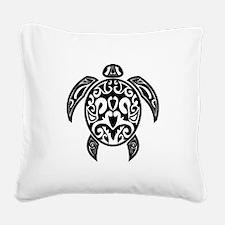 Sea Turtle Black.png Square Canvas Pillow