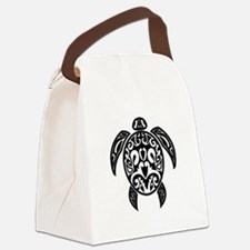 Sea Turtle Black.png Canvas Lunch Bag