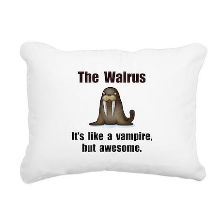 Walrus Vampire Black.png Rectangular Canvas Pillow