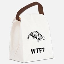 Platypus WTF Black.png Canvas Lunch Bag