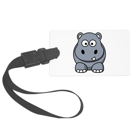 Hippo ONLY.png Large Luggage Tag