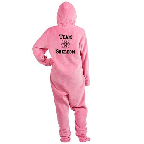 Team Sheldon Black.png Footed Pajamas