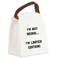 Weird Limited Edition Black.png Canvas Lunch Bag