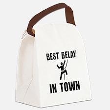 Best Belay Black.png Canvas Lunch Bag