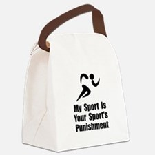 Running Punishment Black.png Canvas Lunch Bag