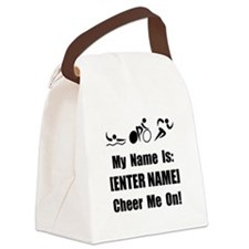 Tri Cheer Me On Personalize It Black Canvas Lunch
