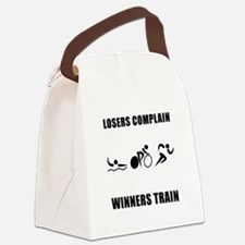 Triathlon Winners Train Black.png Canvas Lunch Bag