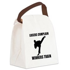 Martial Arts Winners Train Black.png Canvas Lunch