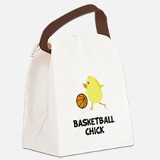Basketball Chick Black.png Canvas Lunch Bag