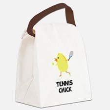Tennis Chick Black.png Canvas Lunch Bag