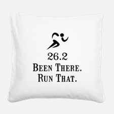 26 Run That Black.png Square Canvas Pillow